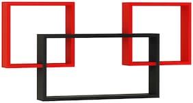 Home Sparkle Mozaic Shelf (Black And Red)