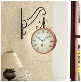 Home Sparkle Two Sides Station Clock