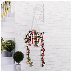 Home Sparkle Mild Steel Wall Hanging Flower Holder
