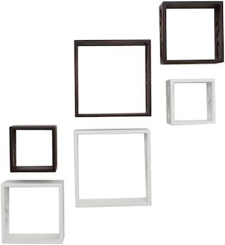 Home Sparkle Cube Wall Shelves -Set Of 6