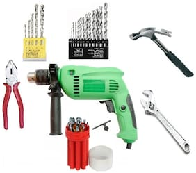 Home Tool Kit With 13 mm Drill Machine