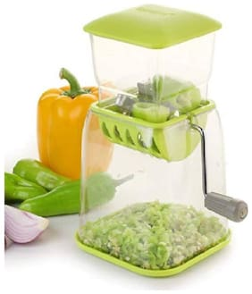 Home Turf Big Size Onion & Chilly Cutter Vegetable Chopper - Green
