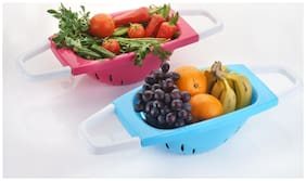 Home Turf Unique Fruit and Vegetable Basket Strainer - Pack of 2