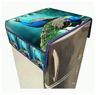 Homecrust Printed Refrigerator Top-Cover- Set of 1