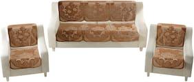 Homecrust Premium Velvet 5 Seater Sofa Cover for Living Room -(Gold;Pack of 10)