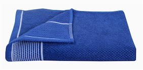 HOMECRUST 450 GSM Cotton terry Bath Towel ( 1 Piece , Blue )