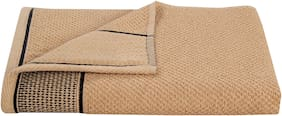 HOMECRUST 450 GSM Cotton terry Bath Towel ( 1 Piece , Brown )