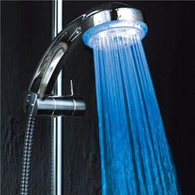 HOMEDECORHD (elegant look) Color changing LED shower with temperature LED without battery with brass pipe