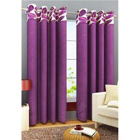 Homefab India Set of 2 Stylish Leaf Purple