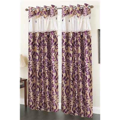 Homefab India Set of 2 Elegency Designer Wine  sc 1 st  Paytm Mall & Curtains - Buy Door Window Kitchen Living Room Curtains Online at ...