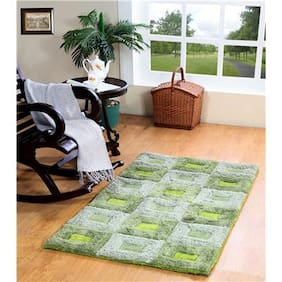 Homefurry Green FAT WINDOW Polyester Carpet