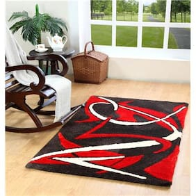 HomeFurry Polyester Abstract Carpet Multi