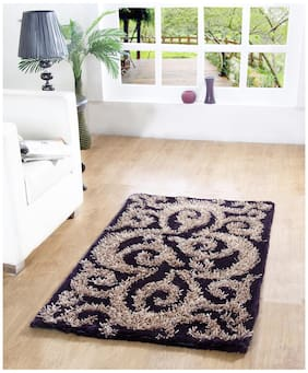 HOMEFURRY Multicolor RUSSEAN Polyester Carpet 3x5 Feet