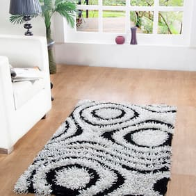 HOMEFURRY Multicolor WHITE KNIGHT Polyester Carpet 3x5 Feet