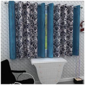 Homely Set of 2 Window Curtains - 5 Ft