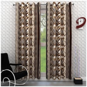 Homely Set of 2 Door Curtains - 7 Ft