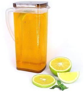 HOMEMARKET Multipurpose Square Water & Juice Jug with Plastic Lid;Drinking Beverage Jug;Glass Water jug for Home use (2000 ml;Transparent)