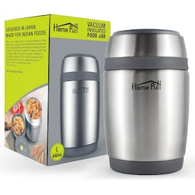 Home Puff Thermosteel Flask Set of 1 ( Grey , Stainless Steel ,  480 ml )