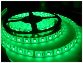 Homes Decor 5 Meter Cuttable LED Strip 5050 Cove Light/Rope Light/Ceiling Light - Green Color with Driver