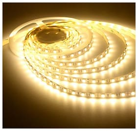 Homes Decor 5 Meter Cuttable LED Strip 5050 Cove Light/Rope Light/Ceiling Light - Warm White Color with Driver