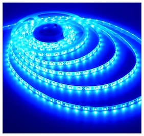 Homes Decor 5 Meter Cuttable LED Strip 5050 Cove Light/Rope Light/Ceiling Light - Blue Color with Driver