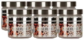 Homfine 200 ml Mini Silverline Containers For Kitchen (Set of 6 pcs)