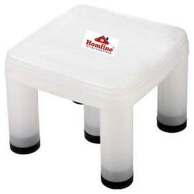 Homfine Bathroom Stool/Chair/Patla Big Size Strong 5 Legs Multipurpose Plastic Stool for Home, Kitchen, Bathroom (Semi Transparent, 1Pc)