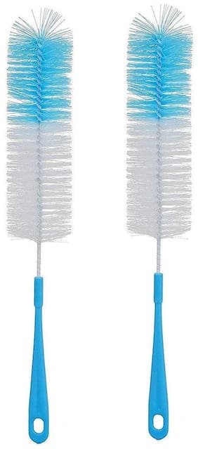 Homfine Long Bottle Cleaning Brush for Clean All Sizes of Bottles Bottle Cleaning Brush Glass and Bottle Plastic Cleaning Brush Water Bottle Cleaner Tool Nylon Brush (Pack of 2)