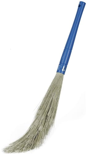 Homfine No Dust Broom For Floor Cleaning, broom stick for home floor cleaning, Jhadu for home cleaning, Made of washable Fibers (Pack of 1)