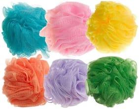 Homfine Shagun Bath and Shower Sponge Loofahs Exfoliating Mesh Puff - Great for Body Wash (Pack Of 6)