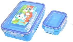 Homfine C-60 1 Container Plastic Lunch Box Set of 1 ( Blue ,  600 ml )
