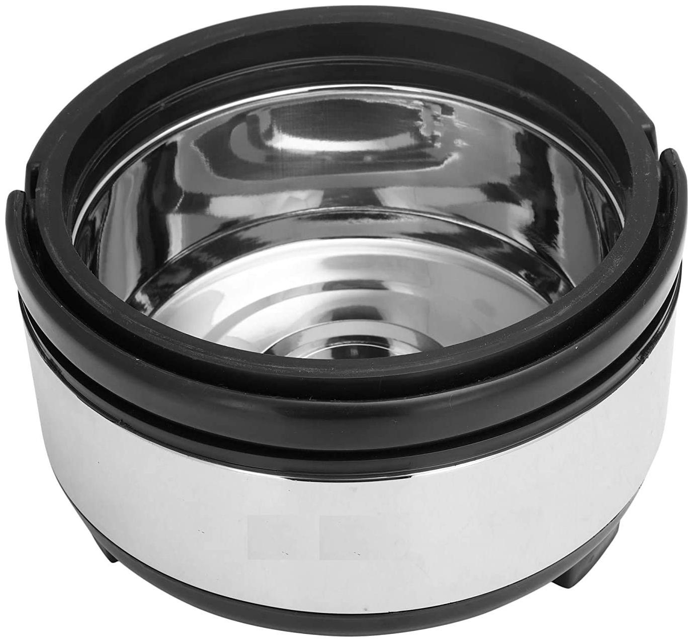 Homfine Steel 2.5 litre Hotpot Casserole  Double Wall Insulated 2500 ml Stainless Steel For Hot Meal;Chapati;Curry;Roti/Warm Food Serving  With Lid