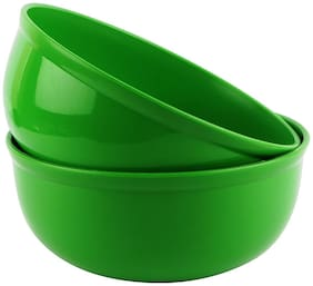Homray Microwave Safe And Unbreakable Exotic Serving Bowl (2 pcs) -Green