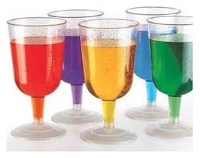 Honest Platinum Unbreakable Poly-Carbonate Cocktail Glasses(Set of 6) 250ml