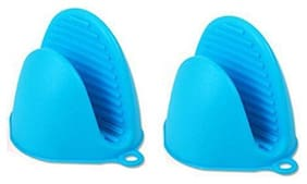 HONEST Silicone Pinch Grip Mitten Oven Mitt Gripper Kitchen Pot Holder Utensil Tool -Set of 2