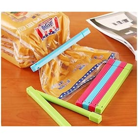 Honestystore 12 pcs Different Size BPA Free Plastic Food Snack Bag Pouch Clip Sealer for Keeping Food (Assorted)