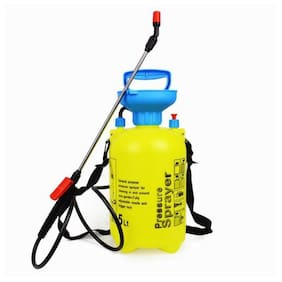 Honestystore 5 Litre Portable Pressurized Water Sprinkler can for Gardening & sanitizer Spraying, Manual Hand Pressure Agriculture Chemical Pesticides Spray Pump, car Cleaning Sprayer
