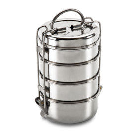 Honestystore 4 Container Stainless Steel Lunch Box Set of 1 ( Silver ,  1500 ml )