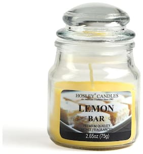 Hosley Lemon Bar Highly Fragrance 75.12 g (2.65 Oz) Wax Jar Candle