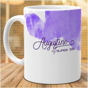 Hot Muggs- Augustine My Super Sis Personalized Ceramic Mug, 350ml, 1 Pc