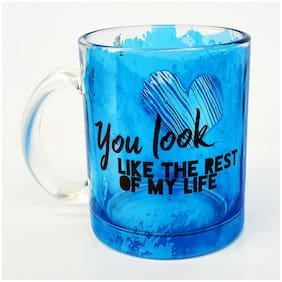 Hot Muggs You look like the rest of my life. Glass Mug-Valentines Day Gift Mug