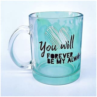 Hot Muggs You will forever be my always Glass Mug-Valentines Day Gift Mug