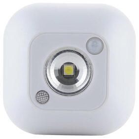Hot Sale Mini Wireless Infrared Motion Sensor Ceiling Night Light Battery Powered Porch Lamp(White) # International Bazaar