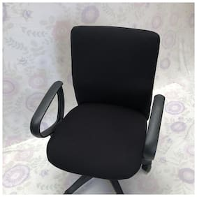 Hotkei Office Home Dining Chair Protector Cover Black