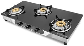 Hotsun 3 Burners Stainless Steel With Glass Top Gas Stove - Assorted