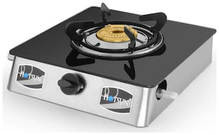 Hotsun 1 Burner Stainless Steel Gas Stove - Black