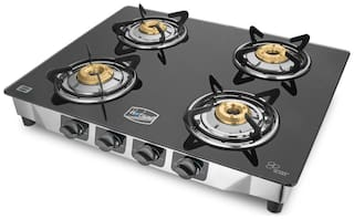 Hotsun 4 Burners Stainless Steel With Glass Top Gas Stove - Assorted
