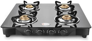 Hotsun 4 Burner Regular Black Gas Stove