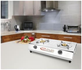 Hotsun 2 Burners Gas Stove - Silver