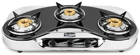 Hotsun 3 Burners Stainless Steel Gas Stove - Assorted